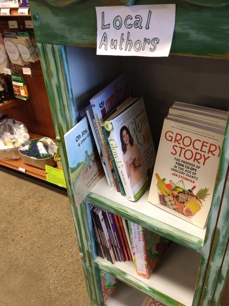 On the shelves at Bisman Food Co-op
