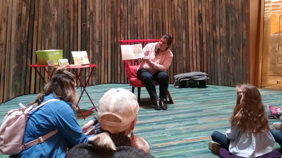 Reading at Billings, MT public library